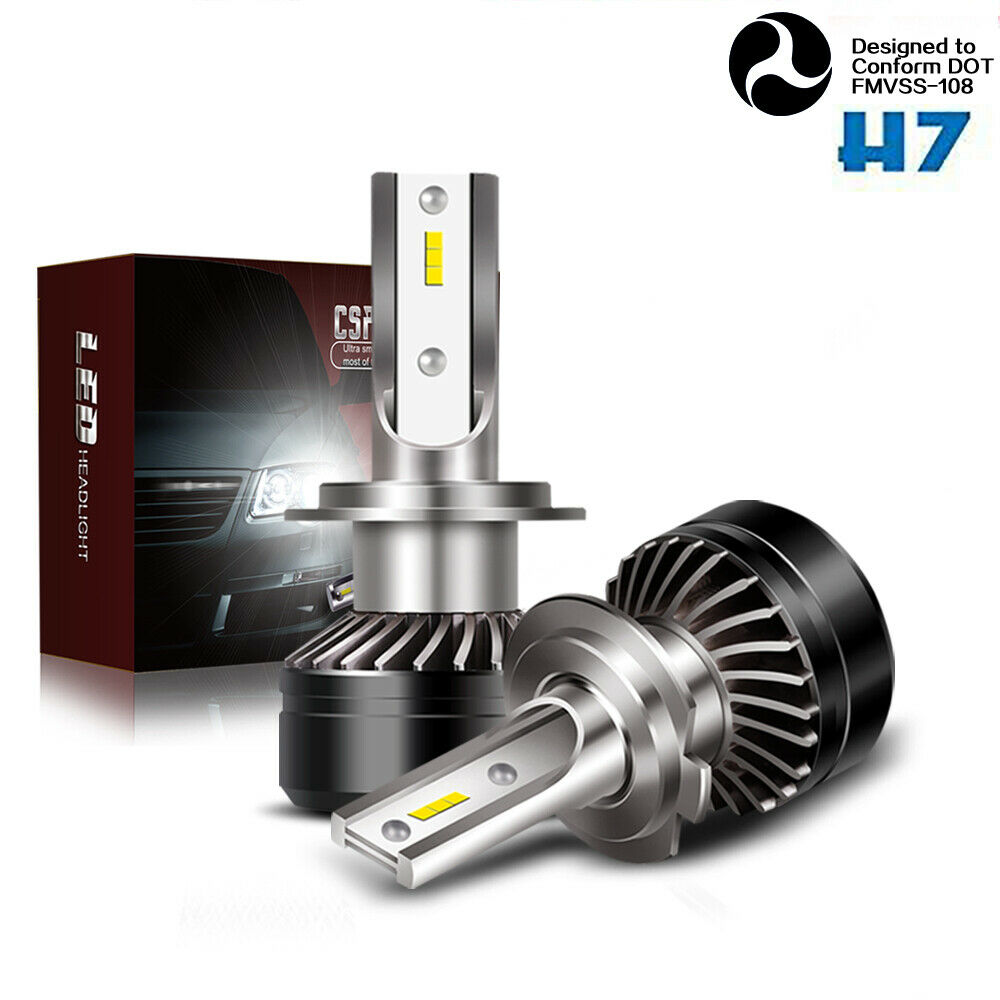 5000lm cree h7 led headlight bulb 6000k error free canbus ford jeep gmc bmw 12v ebay. Black Bedroom Furniture Sets. Home Design Ideas