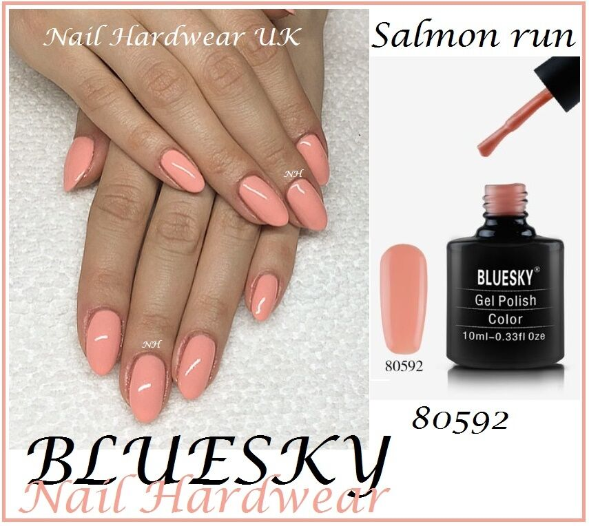 Bluesky SALMON RUN PEACH NUDE NEUTRAL UV/LED Gel Nail Polish 10ML ...