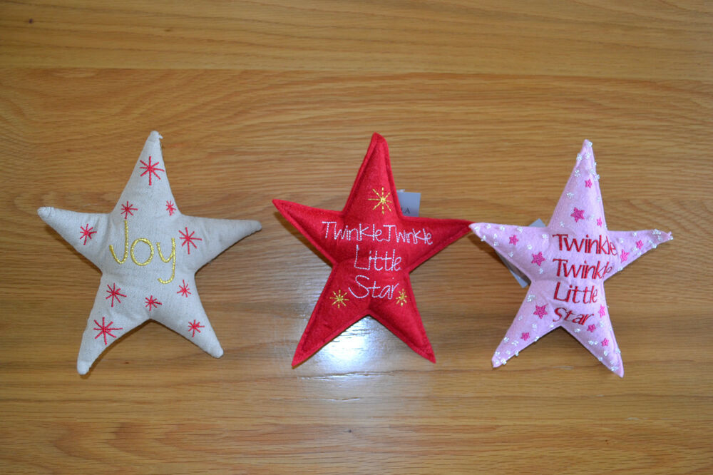 Felt Star Christmas Tree Topper Red Pink Calico Gisela
