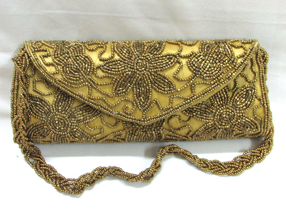 Indian Bridal Wedding Ethnic Purse Bead Evening Party Bag Clutch Prom ...