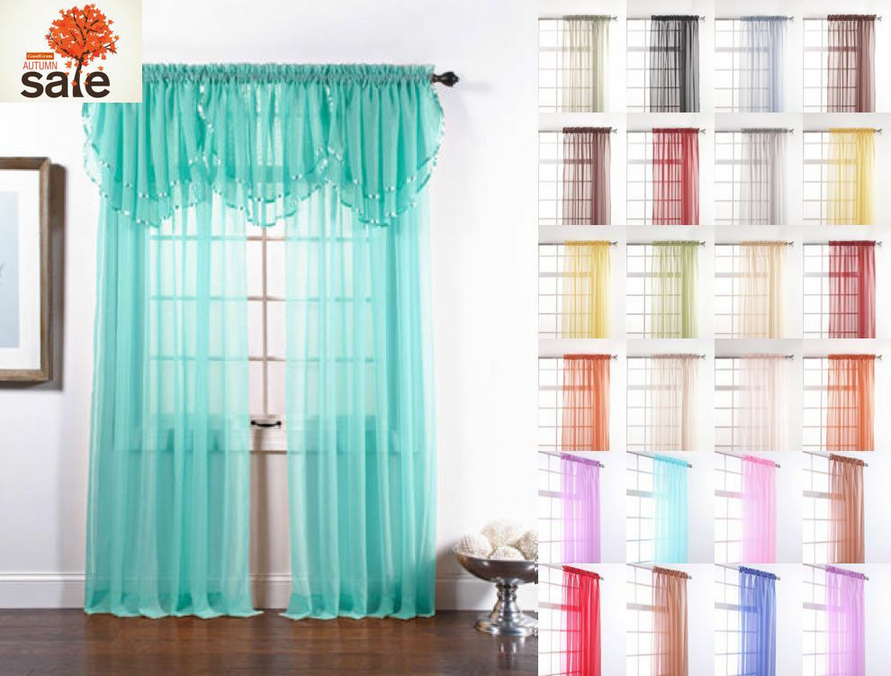 Blue and green striped curtains