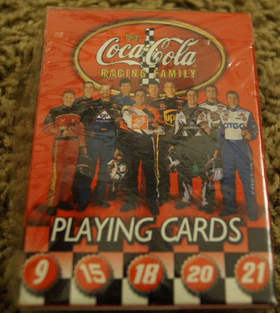 Playing Cards NASCAR Coca Cola Racing Family 10 Drivers