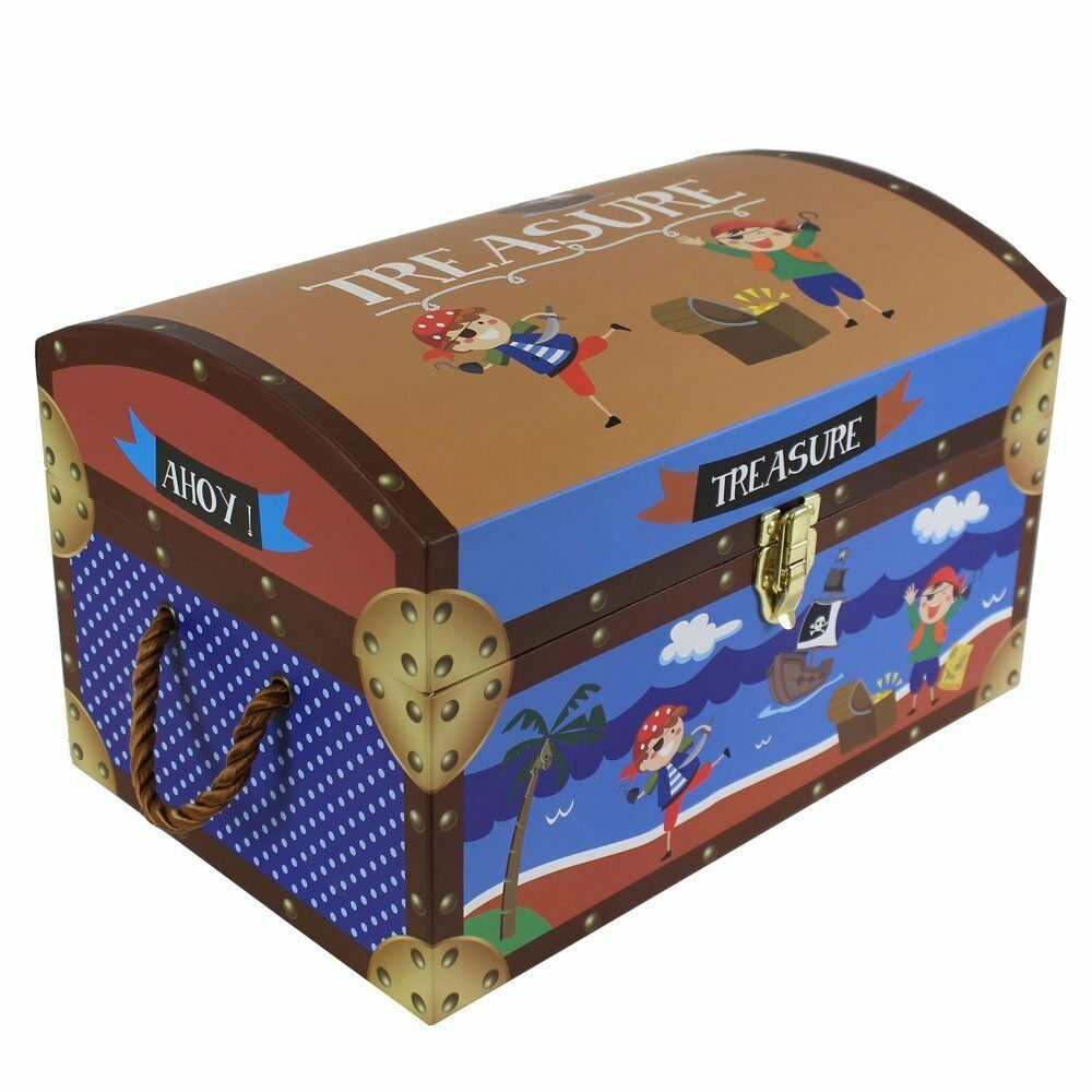 Best Toy Boxes And Chests For Kids : Kids children s pirate treasure chests cardboard toy