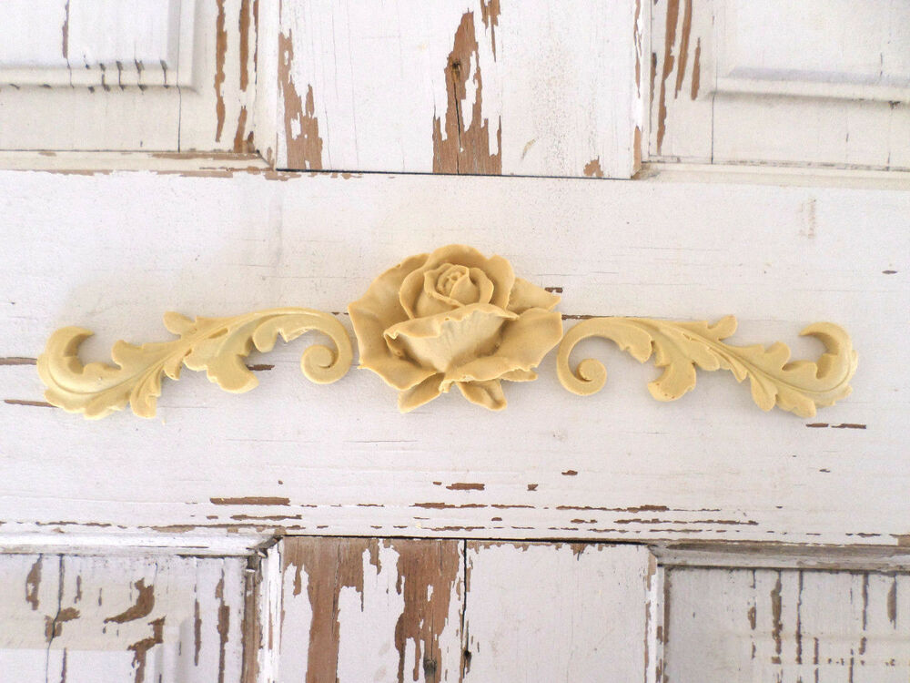 ROSE ARCHITECTURAL FURNITURE APPLIQUES lays Wood Resin