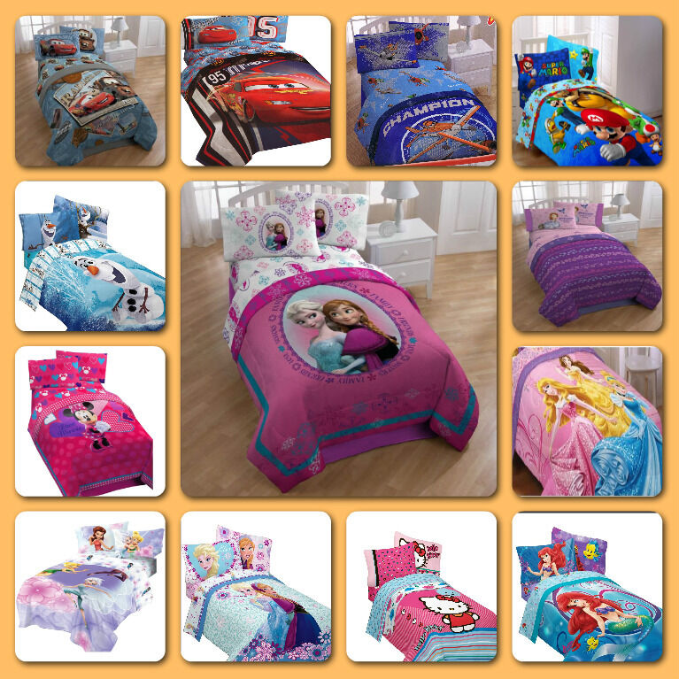 Childrens Comforter Kids Beddings Twin Full Bed Size Girls