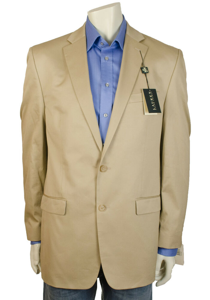 lauren ralph lauren long mens jacket blazer polo tan multisizes ebay. Black Bedroom Furniture Sets. Home Design Ideas