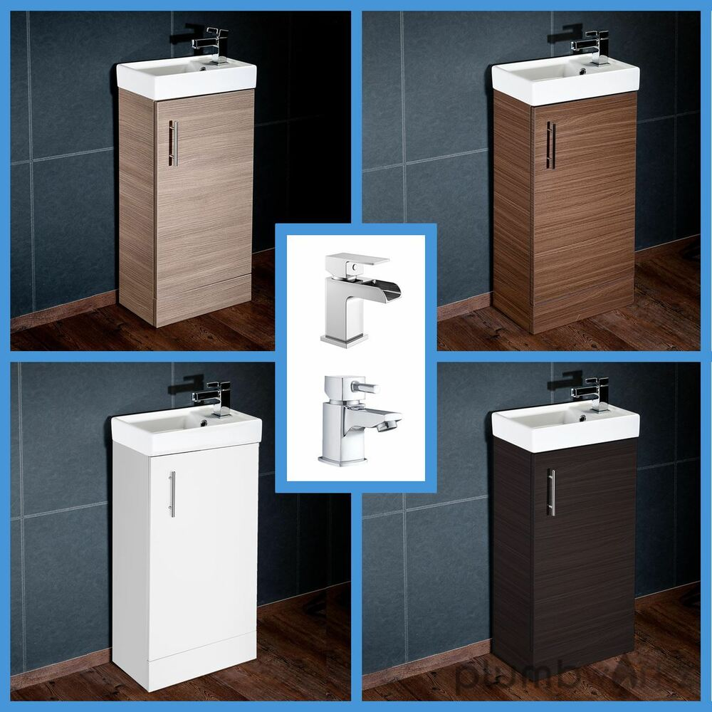 Compact Bathroom Vanity Unit & Basin Sink Vanity 400mm