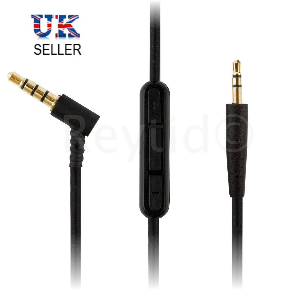 Bose® QC25 & SoundTrue Audio Cable w/ Mic & Vol Control - Replacement ...