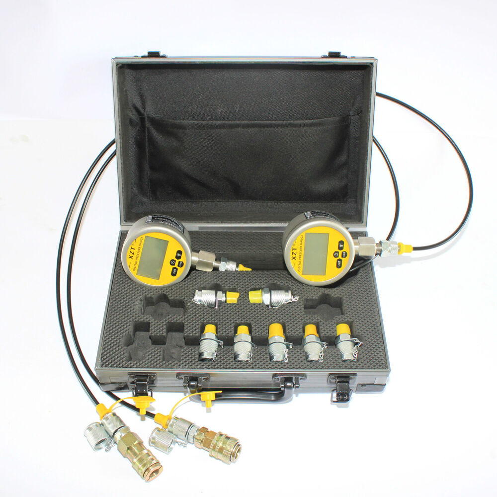 Heavy Equipment Gauges : Digital hydraulic pressure test kit xztk md for