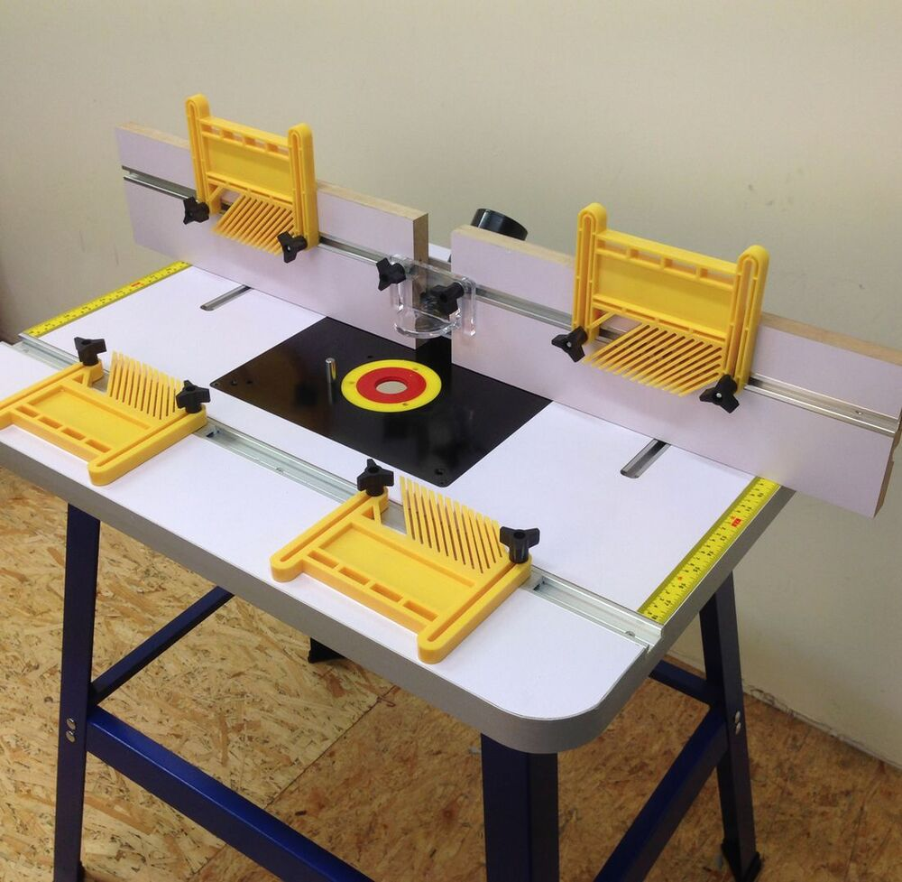 Pro router table bench floor standing with stand feather for How to make a router table stand
