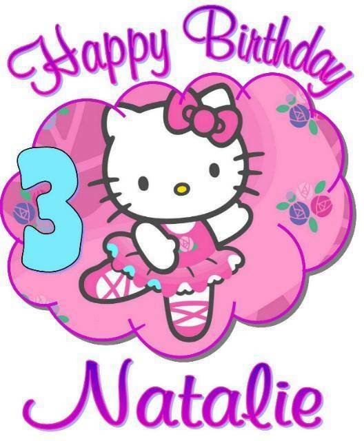 Hello kitty personalized birthday t shirt anyname age printed super soft ebay - Hello kitty birthday images ...
