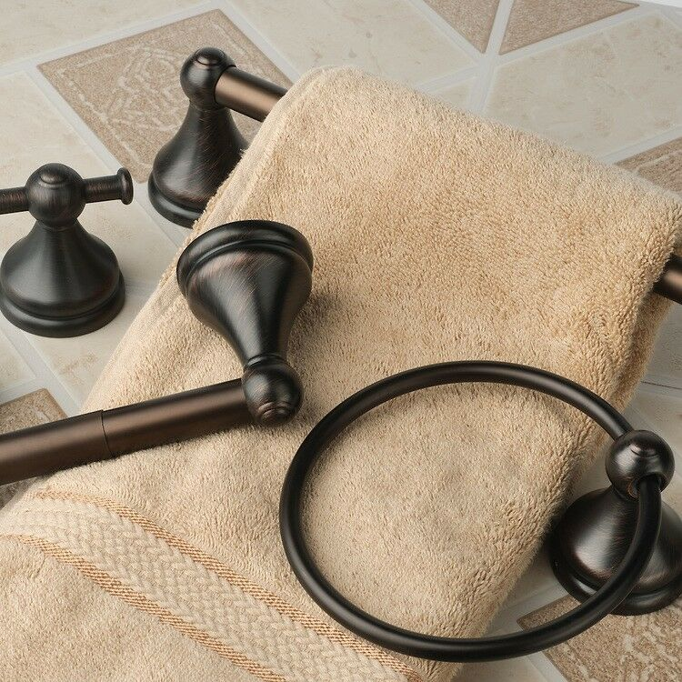 Brentwood Collection Oil Rubbed Bronze 4 Piece Towel Bar