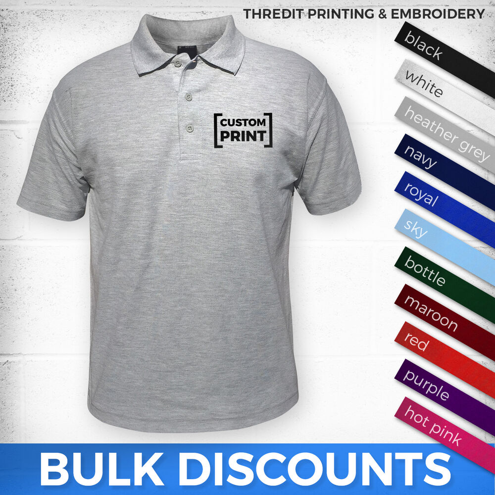 Custom printed polo durable workwear t shirts for Printed t shirts in bulk
