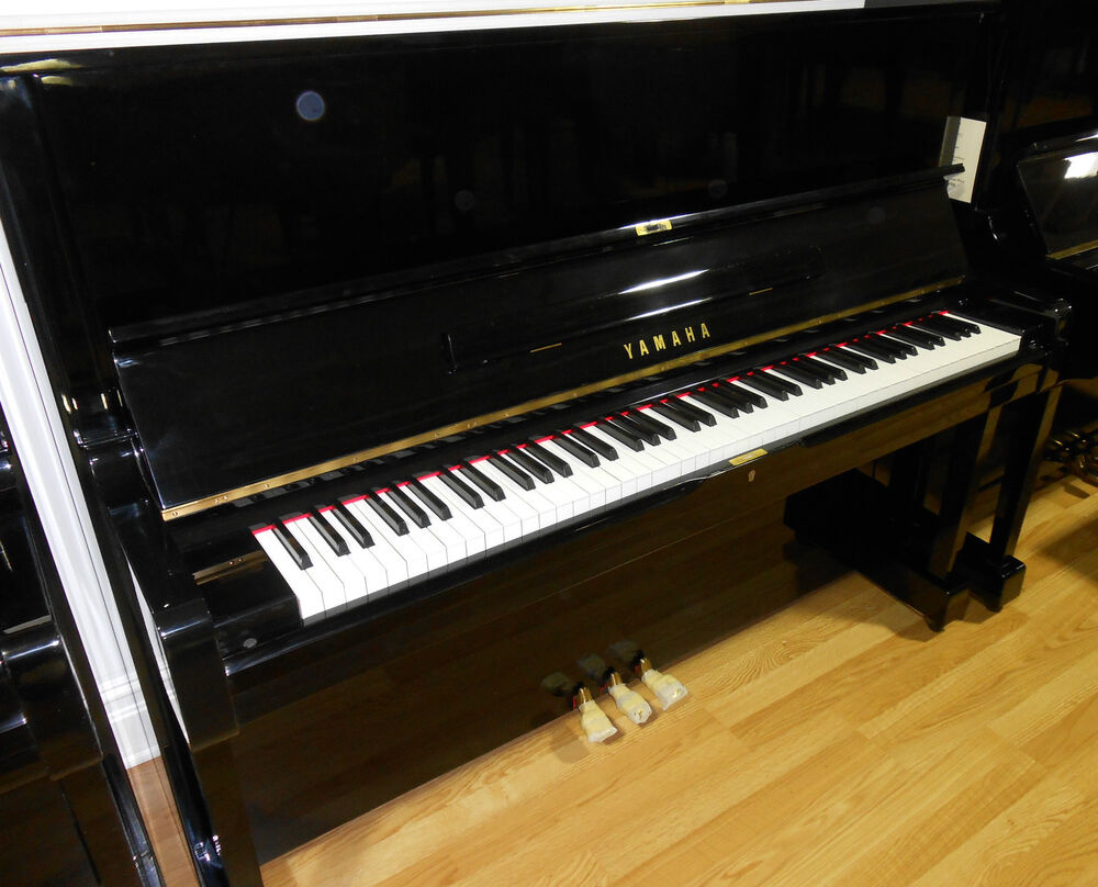 Yamaha u1 upright piano polished ebony ebay for Yamaha piano upright
