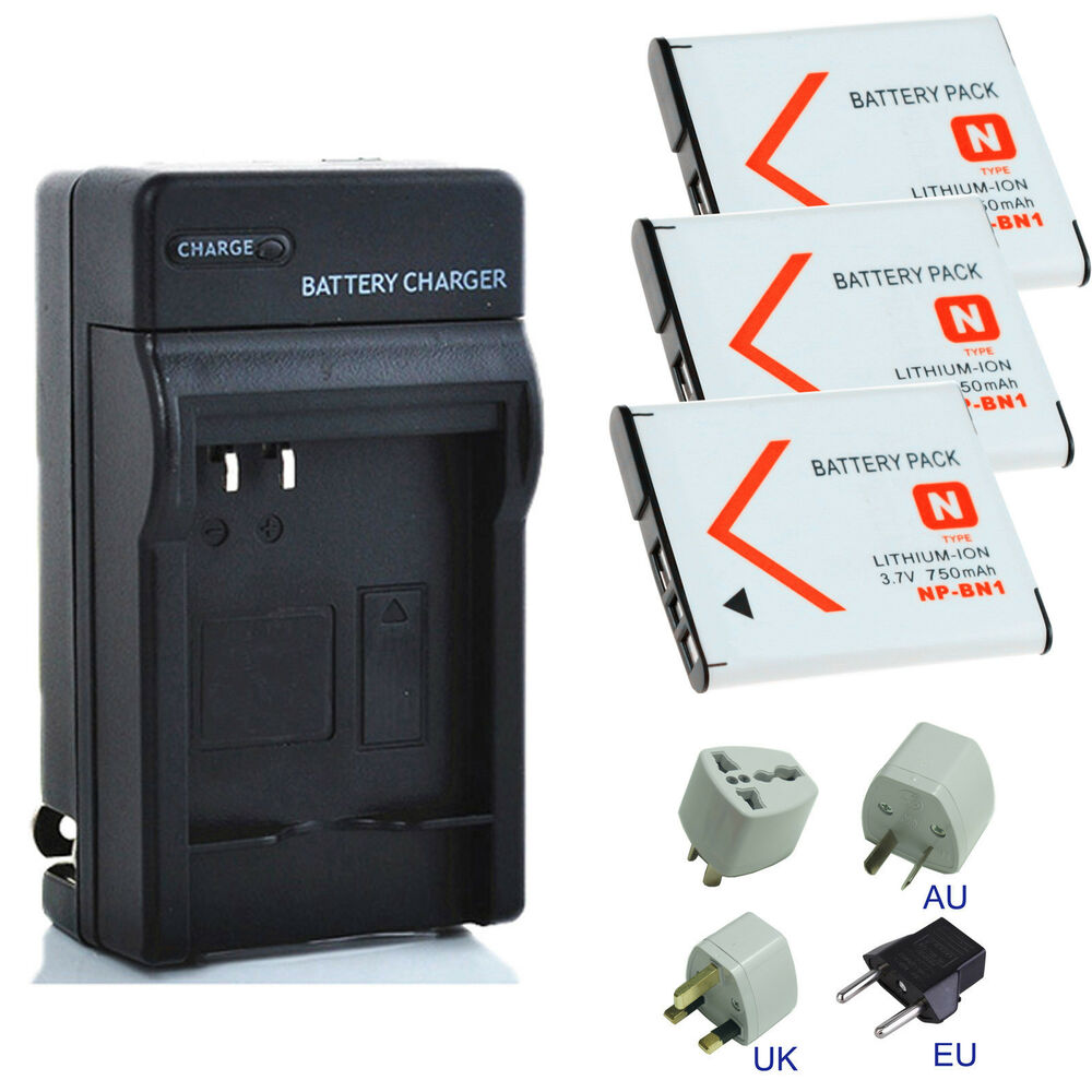 New Battery Charger Kits For Sony Cyber Shot Dsc W800