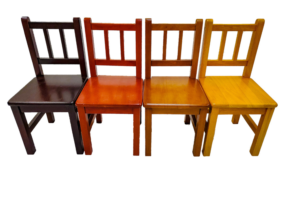 Solid Hard Wood Kids Chairs Set Of 2 Ebay