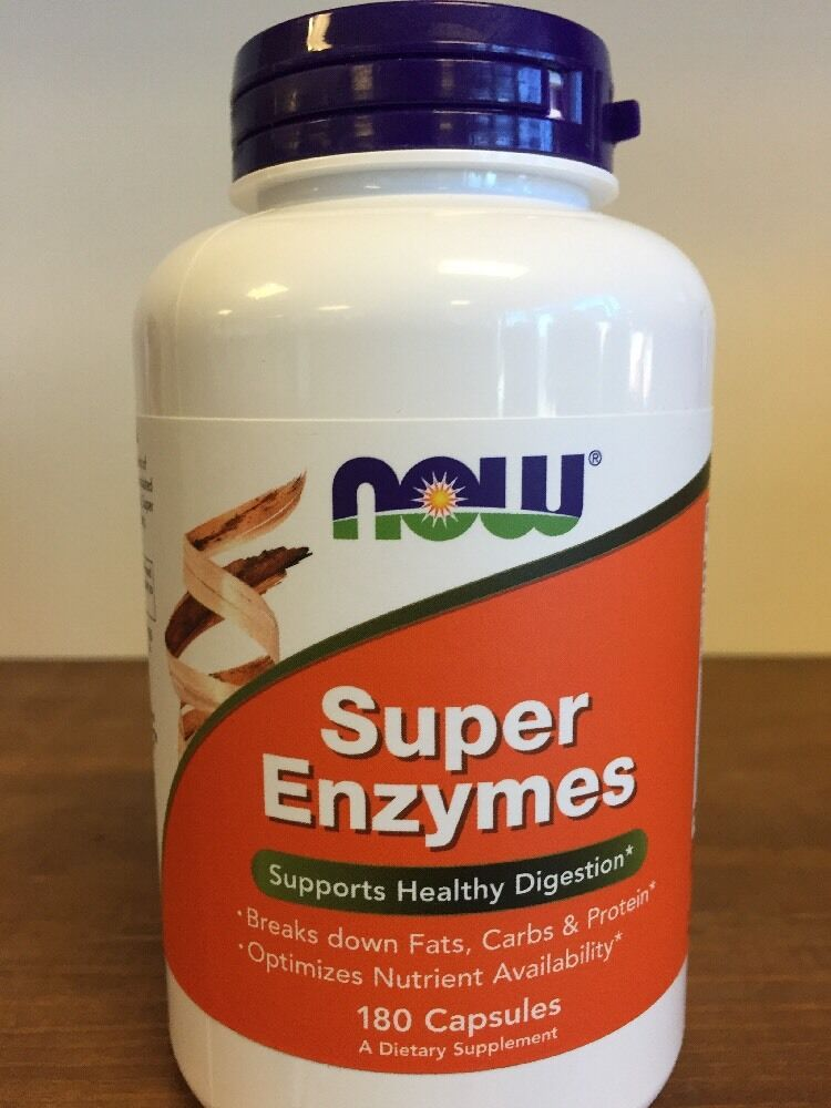 super enzymes 180 capsules now foods  enzymes for healthy