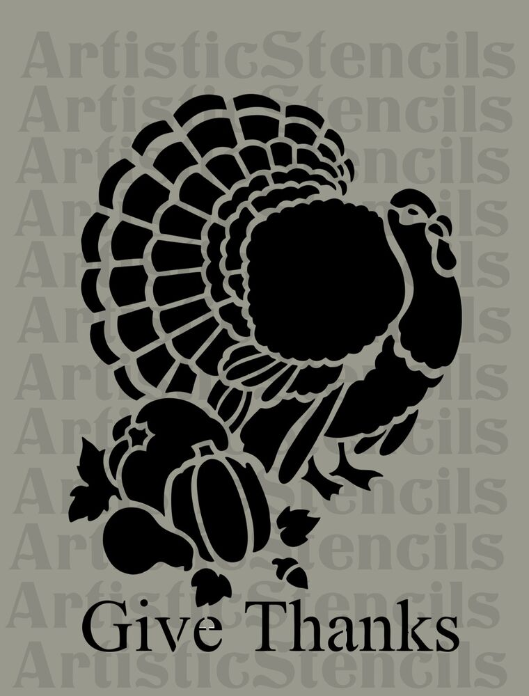 Fabulous image with turkey stencils printable