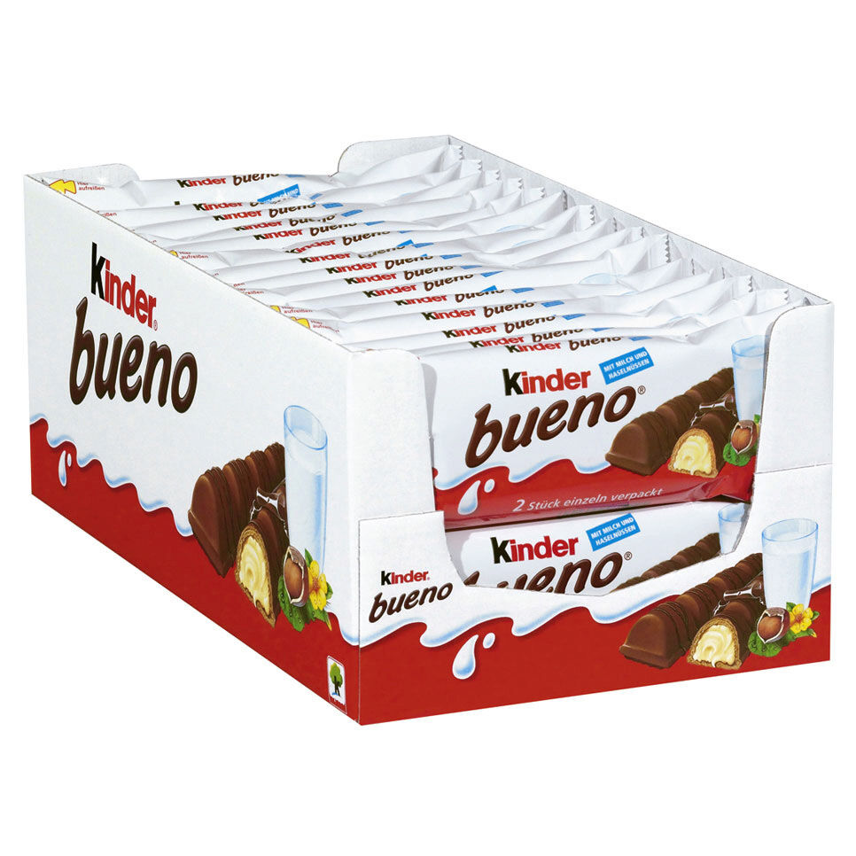 8e339432544f19 Details about Ferrero Kinder Bueno Chocolate Bars 30 x 43g in Box New from  Germany