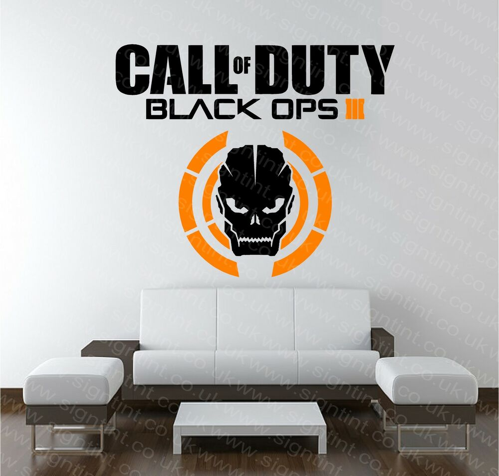 call of duty black ops 3 cod wall art sticker decal mural xbox ps3