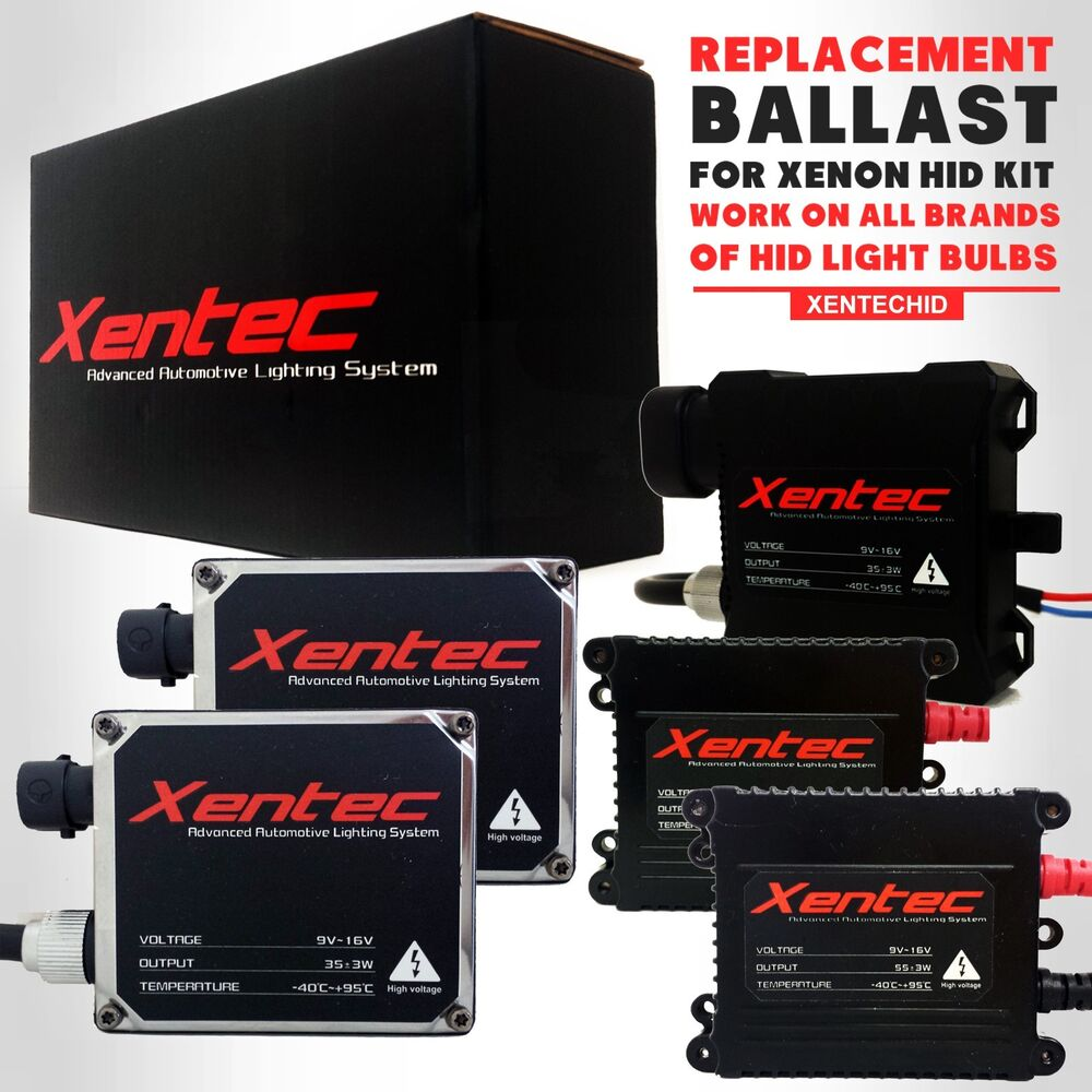 Two Xentec Xenon Lights Hid Kit  U0026 39 S Replacement Ballasts H4 H7 H11 H13 9006 9004