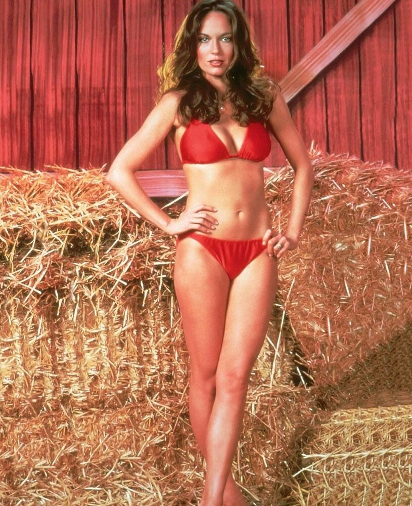 Dodge Charger List >> Catherine Bach in Duke Of Hazzard Red Bikini Poster 13x19 inches | eBay