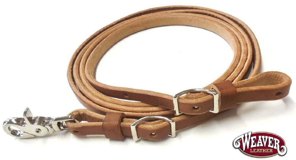 """Flat Roper 1//2/"""" x 8/' Adjustable Rein ST Harness Leather by Weaver Free Shipping"""
