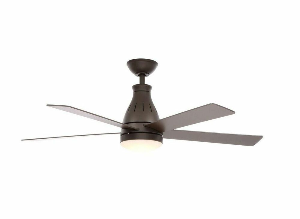 48 In Oil Rubbed Bronze Indoor Led Ceiling Fan Remote