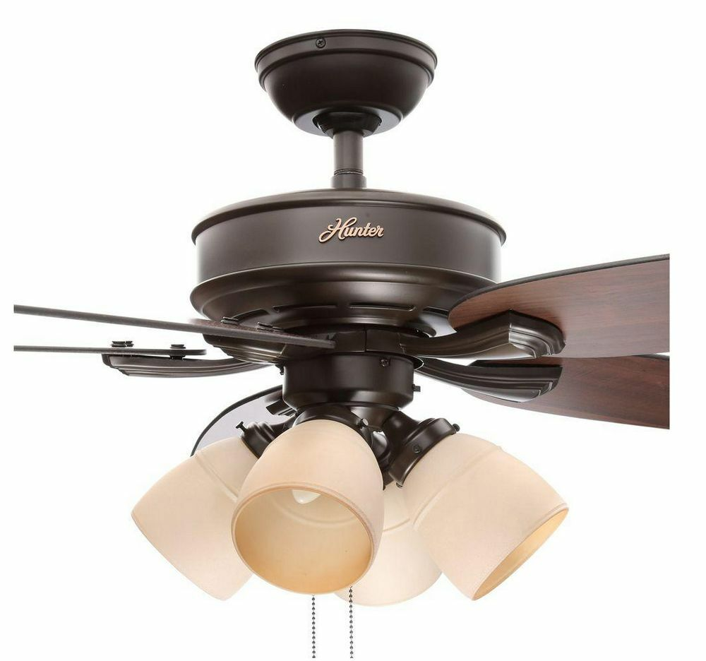 Hunter 52 In Brushed Nickel Indoor Ceiling Fan W Light