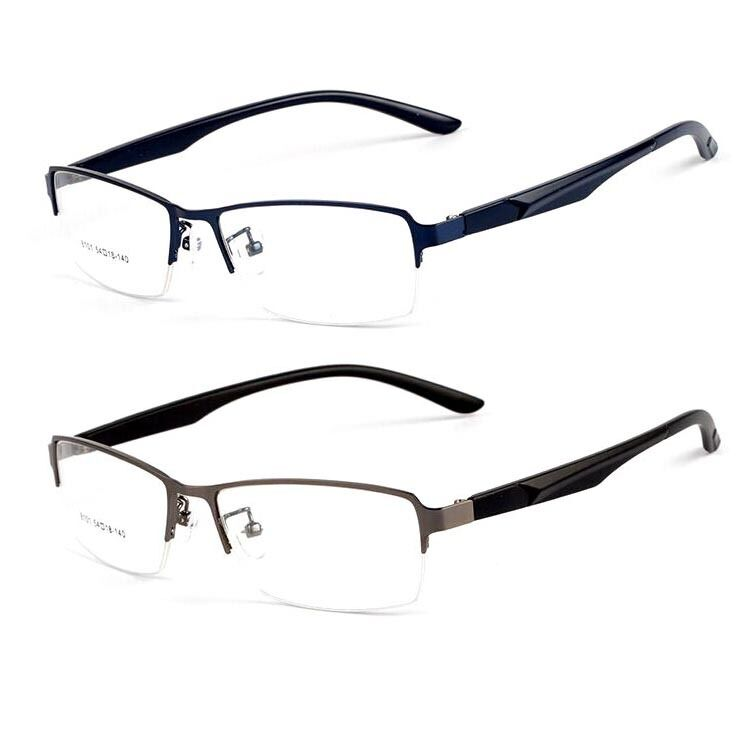 Eyeglass Frames Half Rim : Half Rim Spectacles for Men RX Glasses Optical Eyeglass ...