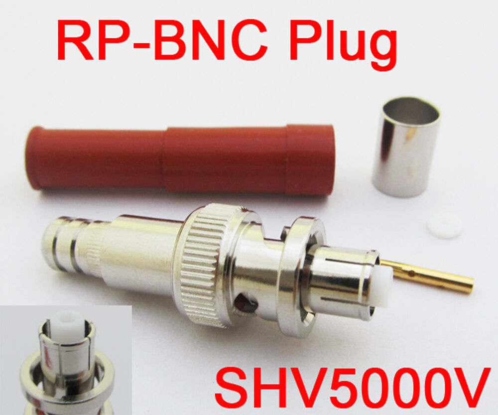 High Voltage Coax Cable : Pcs rp bnc male female pin high voltage power audio