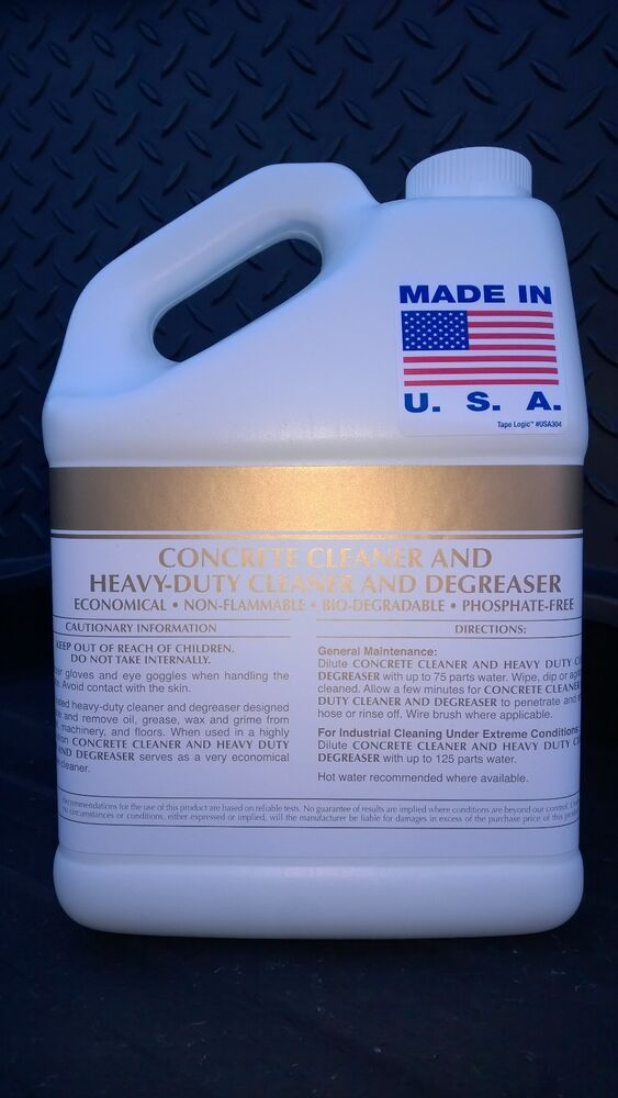 Patriot chemical sales 1 gal concrete floor surface for Concrete floor degreaser
