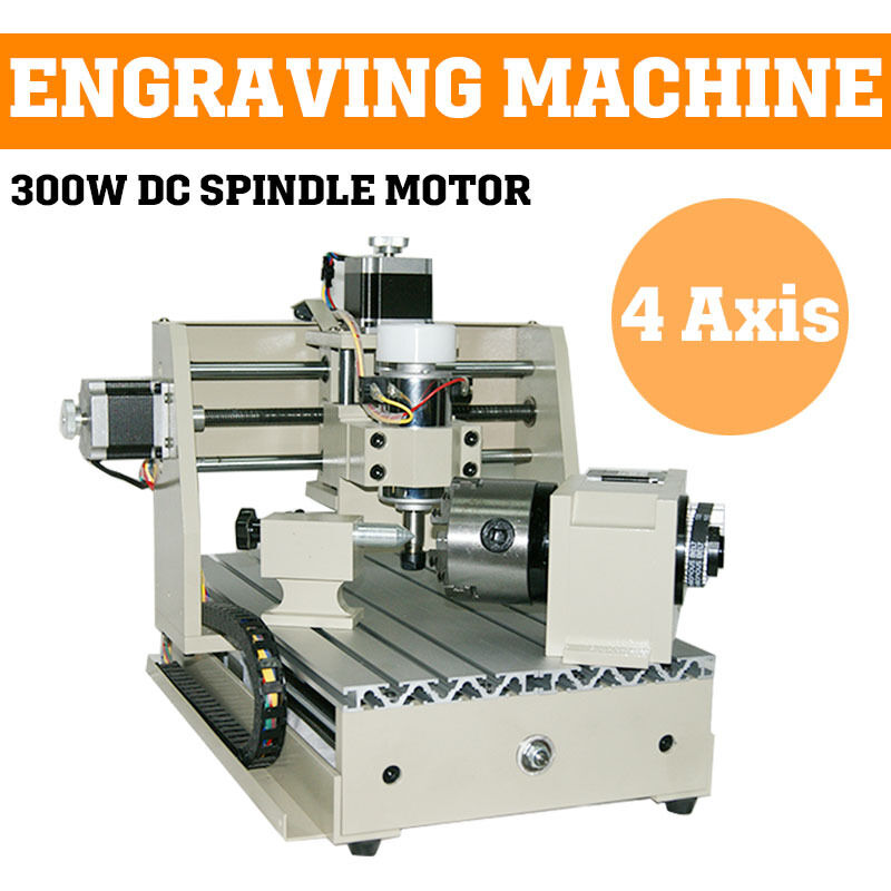AXIS 300W CNC ROUTER ENGRAVER ENGRAVING MACHINE CARVING 3020 3D ...