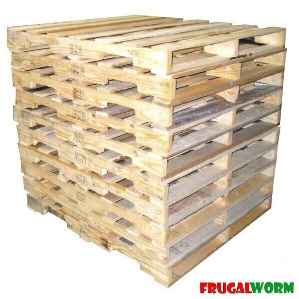 10 recycled wood pallets 48 x 40 4 way pallet ebay. Black Bedroom Furniture Sets. Home Design Ideas
