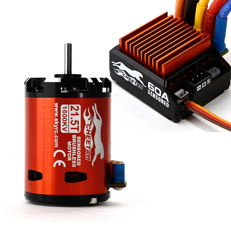 Skyrc cheetah 1 10 60a combo 1600kv 21 5t brushless motor for 10 5 t brushless motor