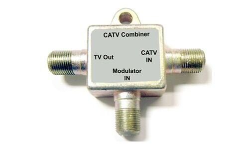Coaxial Cable Splitter : In out rf coax catv combiner cable