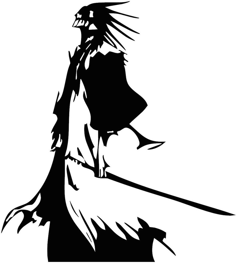 Bleach Kenpachi Zaraki Anime Vinyl Decal Sticker For