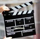 Director Action Props Flim Movie TV Scene Clapboard Clapper Slate Black 2lM