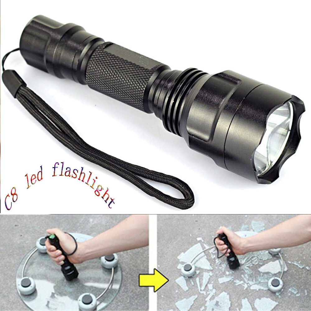 5000 lumens xm l c8 t6 led flashlight 18650 torch lamp light tactical us stock ebay. Black Bedroom Furniture Sets. Home Design Ideas
