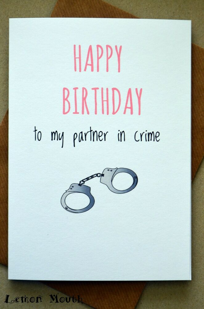Birthday Greetings Card Funny Humour Friends Cute Partner