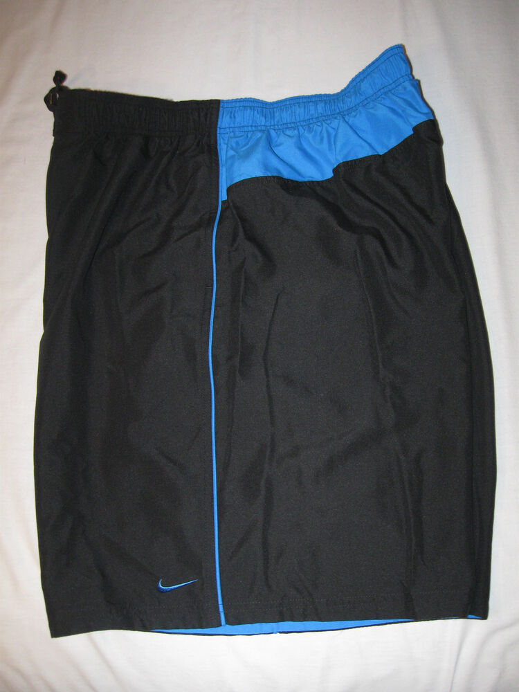 nike mens swim trunks xxl black and blue nwt mesh lined ebay. Black Bedroom Furniture Sets. Home Design Ideas