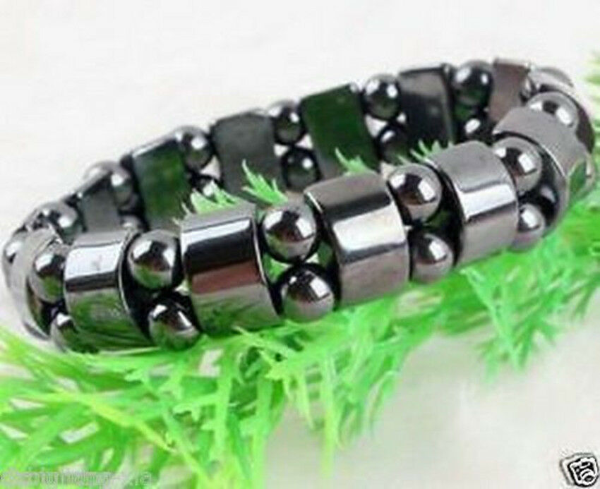 Cool black magnetic hematite bracelet therapy healthy men s women s