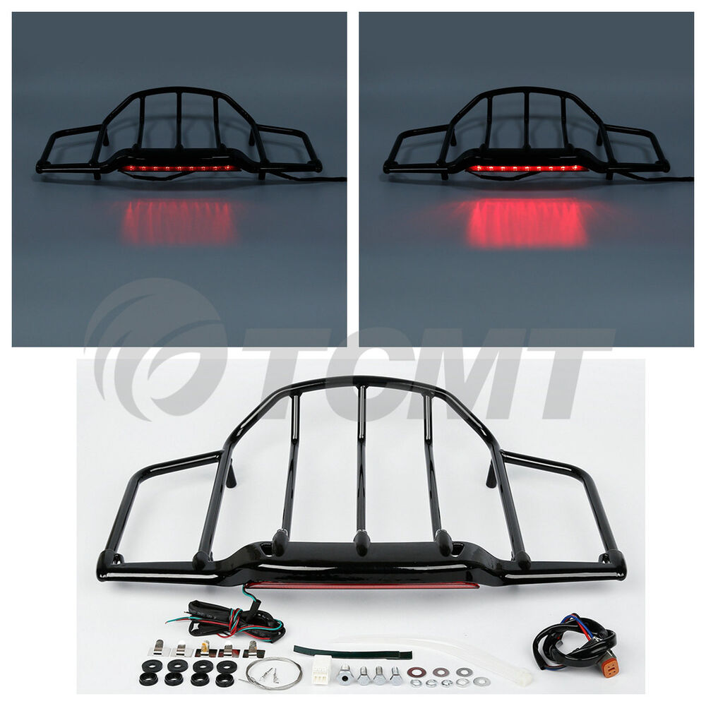 Led Light Air Wing Tour Pak Pack Trunk Luggage Rack For