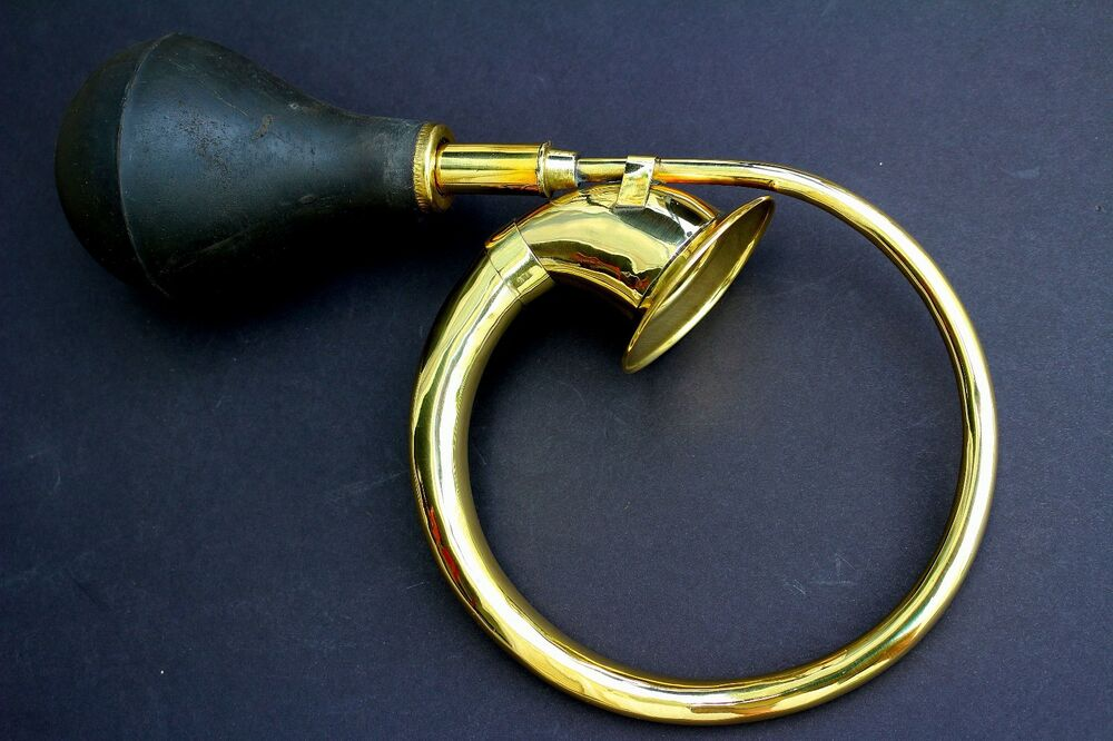 Antique Tricycle Horn : New deura circular brass bulb horn vintage antique old car