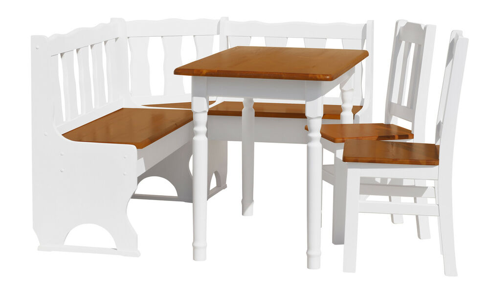 Dining set corner bench with storage pine table chair ebay Dining table and bench set