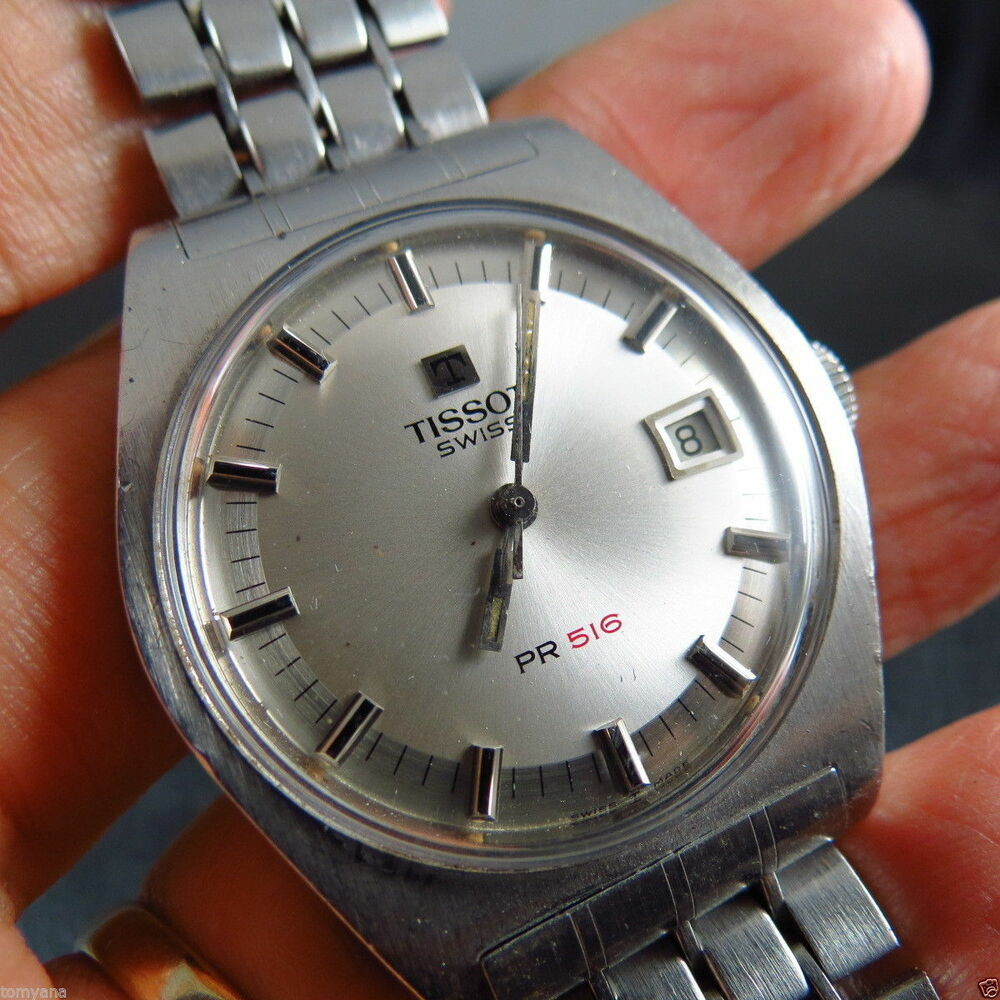 Amazing swiss made vintage tissot pr 516 auto men watch ebay for Celebrity tissot watches