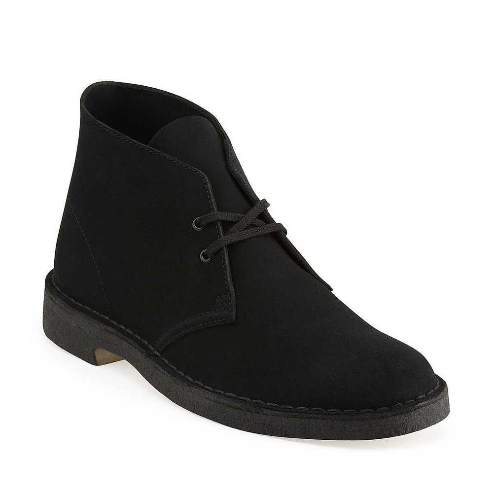 clarks originals desert boot men 39 s black suede casual shoes ebay. Black Bedroom Furniture Sets. Home Design Ideas