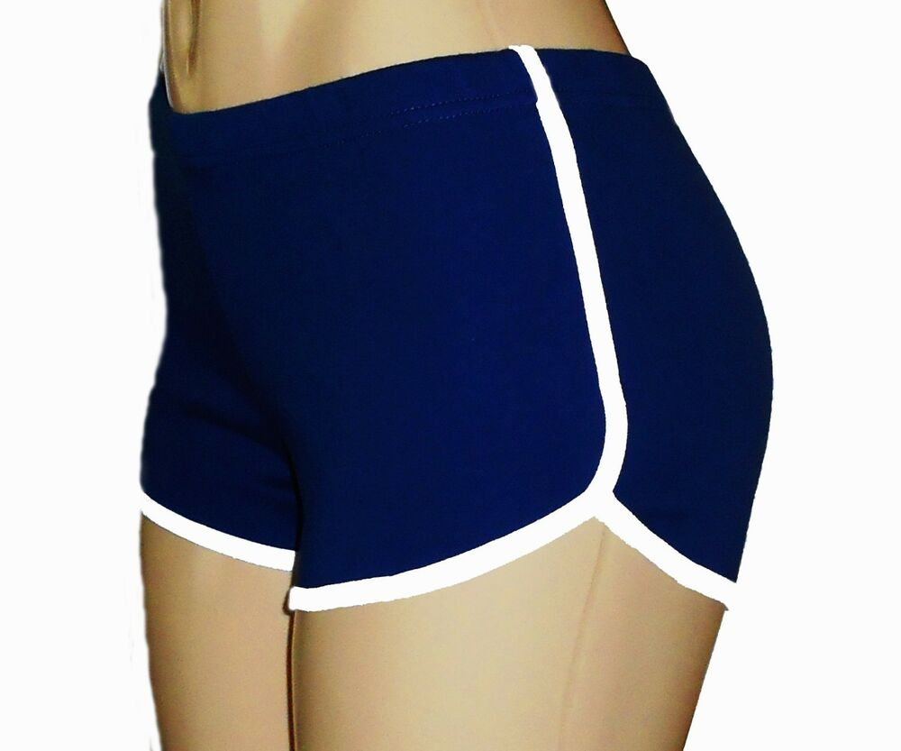 Retro shorts with white trim