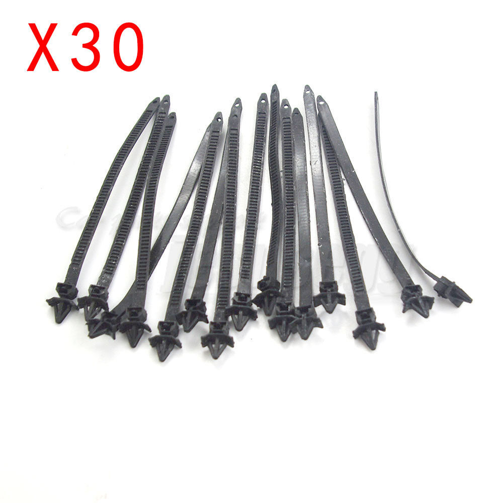 30pcs 7mm hole push mount wire ties releasable nylon cable