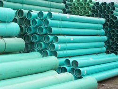 Quot inch diameter sdr green pvc pipe solid core per
